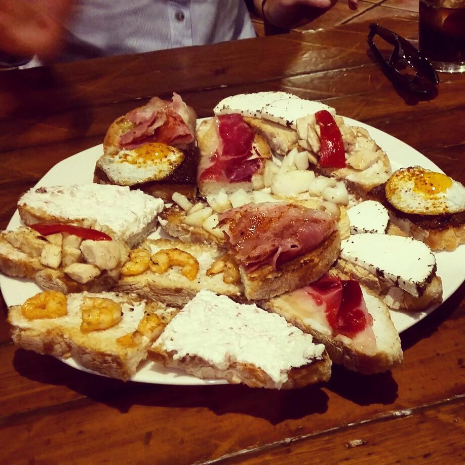 platter of tostas